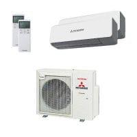 Mitsubishi Heavy Duo-Split Klimaanlage mit 7,1 kW Kühlen: 2x 5 kW SRK ZS-WB + SCM 71 ZS-W