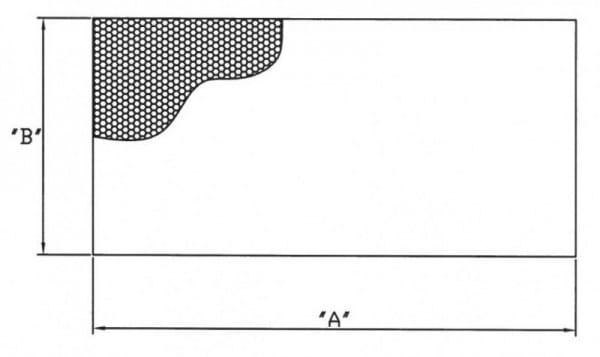 Ausblaswabe mit den Maßen 1250x78x25 mm, für die Kühlmöbel Hersteller Tekso, Carrier, Freor, Epta, A