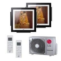 LG Duo Split Klimaanlage Artcool Gallery 1x MA09R+1x MA12R+ 1x MU2R15 2x (PQWRHQ0FDB) 4,7 kW