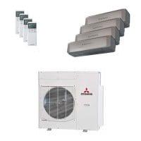 Mitsubishi Heavy Quattro-Split Klimaanlage 10 kW 2x 2,5 + 2x 3,5 kW SRK ZS-WT+SCM 100 ZM-S