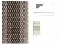 Ausblaswabe mit den Maßen 1250x110x20 mm, für die Kühlmöbel Hersteller Tekso, Carrier, Freor, Epta,