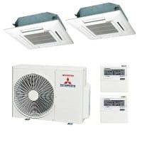 Mitsubishi Heavy Duo-Split Klimaanlage 2x FDTC 35 VF + 1x SCM 50 ZS-S 5 kW Kühlen / 6 kW Heizen