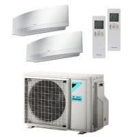Daikin Klimaanlage Emura 1x FTXJ35MW + 1x FTXJ50MW + Außengerät 2MXM50M9 5,0 kW Kühlen - R32