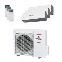 Mitsubishi Heavy Trio-Split Klimaanlage 8 kW Kühlen: 3x 3,5 kW SRK ZS-WB + SCM 80 ZM-S